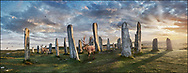 Circles of Stone  The Callanish Stones ( circa 2,500 to circa 2,000 BC) is a Neolithic standing stones monument, Isle of Lewis, Scotland. Photo art by Paul Williams .<br /> <br /> Visit our LANDSCAPE PHOTO ART PRINT COLLECTIONS for more wall art photos to browse https://funkystock.photoshelter.com/gallery-collection/Places-Landscape-Photo-art-Prints-by-Photographer-Paul-Williams/C00001WetsxVxNTo