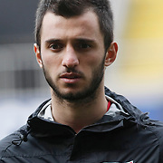 Turkey U21's Emre Colak during their friendly soccer match Turkey U21 betwen Denmark U21 at Recep Tayyip Erdogan stadium in Istanbul February 29, 2012. Photo by TURKPIX