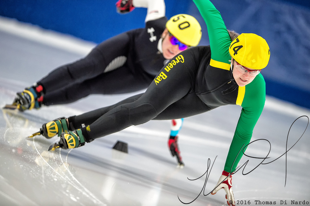 March 18, 2016 - Verona, WI - Samantha Holmes, skater number 274 competes in US Speedskating Short Track Age Group Nationals and AmCup Final held at the Verona Ice Arena.