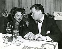 1947 Dick Haymes and wife, Joanne Dru, at Ciro's Nightclub