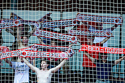 Red Tigers, fans of Slovan at handball match of MIK 1st Men league between RD Slovan and RK Gorenje Velenje, on May 16, 2009, in Arena Kodeljevo, Ljubljana, Slovenia. Gorenje won 27:26. (Photo by Vid Ponikvar / Sportida)