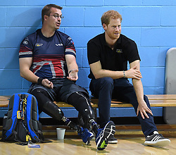 Prince Harry attends the Invictus Games sports training at the Toronto Pan Am Sports Centre, Toronto, Canada, on the 22nd September 2017. 22 Sep 2017 Pictured: Prince Harry attends the Invictus Games sports training at the Toronto Pan Am Sports Centre, Toronto, Canada, on the 22nd September 2017. Picture by James Whatling. Photo credit: James Whatling / MEGA TheMegaAgency.com +1 888 505 6342