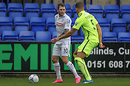 James Norwood (Tranmere Rovers) looks to cross the ball  during the Vanarama National League match between Tranmere Rovers and Southport at Prenton Park, Birkenhead, England on 6 February 2016. Photo by Mark P Doherty.