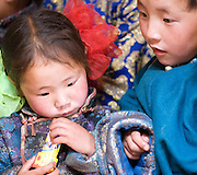 Mongolian children at Anar