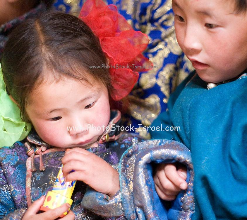Mongolian children at Anar