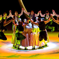 Members of the Hungarian Folk Ensemble perform Sunlegend choreographed by Gabor Mihalyi in Palace of Arts.