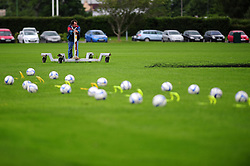 Groundsman at the Bristol Rover's training ground - Photo mandatory by-line: Dougie Allward/JMP - Tel: Mobile: 07966 386802 24/06/2013 - SPORT - FOOTBALL - Bristol -  Bristol Rovers - Pre Season Training - Npower League Two