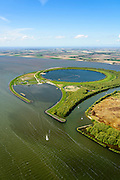Nederland, Flevoland-Overijssel, Ketelmeer, 07-05-2015; IJsseloog, gezien naar Noordoostpolder. Slibdepot voor de verontreinigde slib uit het Ketelmeer zoals aangevoerd door de IJssel. Het saneren van het Ketelmeer is noodzakelijk om plannen op het gebied van recreatie en natuur mogelijk te maken. IJsseloog, depot for the contaminated sludge from the sludge Ketelmeer as alleged by the IJssel. The rehabilitation of the Ketelmeer is necessary to allow for planning of future nature and recreational development.<br /> luchtfoto (toeslag op standard tarieven);<br /> aerial photo (additional fee required);<br /> copyright foto/photo Siebe Swart