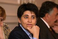 02 NOV 2004, ANKARA/TURKEY:<br /> Leyla Zana, kurdische Politikerin, im Gespraech mit einer delegation der Bundestagsfraktion Buendnis 90 / Die Gruenen<br /> IMAGE: 20041102-01-073<br /> KEYWORDS: Tuerkei, Türkei, Bündnis 90 / Die Grünen