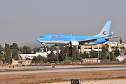 Israel, Ben-Gurion international Airport Neos Airlines Boeing 737-800 landing