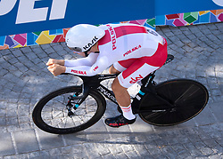 26.09.2018, Innsbruck, AUT, UCI Straßenrad WM 2018, Einzelzeitfahren, Elite, Herren, von Rattenberg nach Innsbruck (54,2 km), im Bild Michal Kwiatkowski (POL) // Michal Kwiatkowski of Poland during the men's individual time trial from Rattenberg to Innsbruck (54,2 km) of the UCI Road World Championships 2018. Innsbruck, Austria on 2018/09/26. EXPA Pictures © 2018, PhotoCredit: EXPA/ Reinhard Eisenbauer