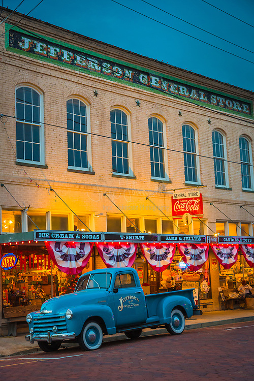Jefferson is a historic city in Marion County in northeastern Texas, United States. The population was 2,024 at the 2000 census. It is the county seat of Marion County, Texas, and is situated in East Texas. The city is a tourism center, with popular attractions including: Jay Gould's Railroad car, the Sterne Fountain, Jefferson Carnegie Library, Excelsior House, the House of the Four Seasons, and the bayous formed by Big Cypress Bayou located in and around the city.