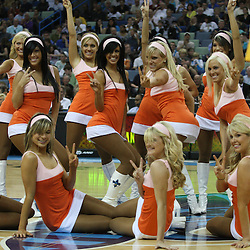 27 February 2009: during a 95-94 win by the New Orleans Hornets over the Milwaukee Bucks at the New Orleans Arena in New Orleans, Louisiana.  The game was a NBA Hardwoord Classics game featuring the Hornets dressed in ABA franchise throwback uniforms of the New Orleans Bucs from the 1967-68 season