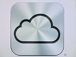 Screenshot of logo of new Apple iCloud cloud computing service