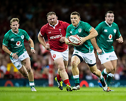 Andrew Conway of Ireland<br /> <br /> Photographer Simon King/Replay Images<br /> <br /> Friendly - Wales v Ireland - Saturday 31st August 2019 - Principality Stadium - Cardiff<br /> <br /> World Copyright © Replay Images . All rights reserved. info@replayimages.co.uk - http://replayimages.co.uk