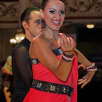 Jacques Fortin and Katya Charf from Canada perform their dance during the Professional Latin-American Rising Stars competition of the Blackpool Dance Festival that is the most famous event among dance competitions held in Blackpool, United Kingdom on May 27, 2011. ATTILA VOLGYI