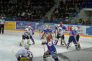 Khabarovsk, Russia, 02/03/2004.&#xD;The city ice hockey team play in the new Platinum Stadium owned by Amur Company, the main city employer.<br />