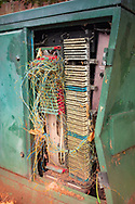 A damages telephone exchange box in Camberwell, south London. A telephone exchange or telephone switch is a telecommunications system used in the public switched telephone network or in large enterprises. It interconnects telephone subscriber lines or virtual circuits of digital systems to establish telephone calls between subscribers.