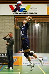14-01-2012 VOLLEYBAL: B - LEAGUE HEREN SLIEDRECHT SPORT - ALFA NEXT VOLLEY DORDRECHT: SLIEDRECHT<br /> Wessel Keemink Alfa Next Volley Dordrecht<br /> ©2012-FotoHoogendoorn.nl / Pim Waslander