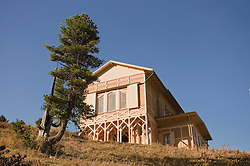 View of mountain hut at Wetterstein, Schachen, Bavaria, Germany