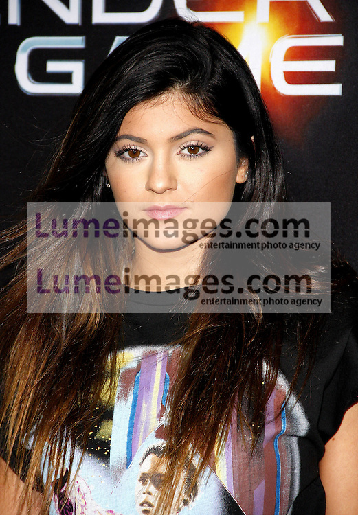 """Kylie Jenner at the Los Angeles premiere of """"Ender's Game"""" held at the TCL Chinese Theatre in Hollywood, USA on October 28, 2013."""