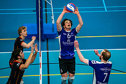 Daan Haanappel of Vocasa in action during the first league match in the corona lockdown between Talentteam Papendal vs. Vocasa on January 13, 2021 in Ede.