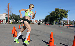 January 26, 2019 - Oceanside, California, United States - January 26, 2019, Santee, California_USA_2019 USATF 50km Race Walk Championships_| Claire Tallent, of Australia, goes a through a turn during her women's international victory. |_Photo Credit: Photo by Charlie Neuman (Credit Image: © Charlie Neuman/ZUMA Wire)