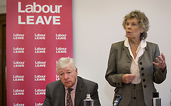 © Licensed to London News Pictures. 20/01/2016. London, UK. Kate Hoey MP and Graham Stringer MP (L) help to launch the Labour Party's 'Labour Leave' EU referendum campaign.  A referendum on the United Kingdom's membership of the European Union may be held as soon as this summer.  Photo credit: Peter Macdiarmid/LNP