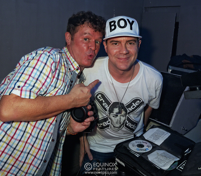 London, United Kingdom - 2 November 2013<br /> DJs George Mitchell (L) and Steven Sharp (R) at the 23rd birthday party for Trade gay club night at Egg nightclub, York Way, King's Cross, London, England, UK.<br /> Contact: Equinox News Pictures Ltd. +448700780000 - Copyright: ©2013 Equinox Licensing Ltd. - www.newspics.com<br /> Date Taken: 20131102 - Time Taken: 212118+0000