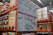 Emergency supplies warehouse, Deutsches Rotes Kreuz (DRK - German Red Cross) at their logistics centre at Berlin-Schönefeld airport.