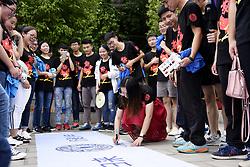June 1, 2017 - Xingyi, Xingyi, China - Xingyi, CHINA-June 1 2017: (EDITORIAL USE ONLY. CHINA OUT)..High school students pose for a graduation photo in Xingyi, southwest China's Guizhou Province, June 1st, 2017. (Credit Image: © SIPA Asia via ZUMA Wire)