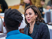 10 NOVEMBER 2019 - FT. DODGE, IOWA: Sen. Harris taught a biblical lesson at 2nd Baptist Church in Ft. Dodge as a part of her campaign to be the Democratic nominee for the US presidency in 2020. Iowa traditionally holds the first selection of the presidential election cycle. The Iowa caucuses are Feb. 3, 2020.       PHOTO BY JACK KURTZ