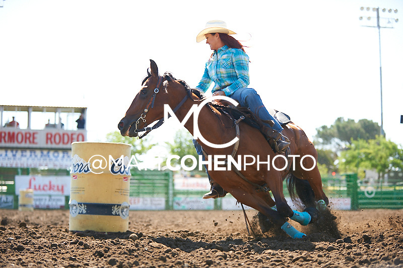 Barrel racer Jamie Hinton of Ceres, CA competes at the Livermore Rodeo in Livermore, CA<br /> <br /> <br /> UNEDITED LOW-RES PREVIEW<br /> <br /> <br /> File shown may be an unedited low resolution version used as a proof only. All prints are 100% guaranteed for quality. Sizes 8x10+ come with a version for personal social media. I am currently not selling downloads for commercial/brand use.