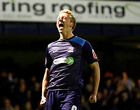 Lee Barnard celebrates his goal. Southend United v Hartlepool United at Roots Hall Southend-on-Sea<br /> 27/03/2009. Credit  Colorsport / Kieran Galvin