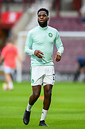 Odsonne Edouard (#22) of Celtic FC warms up before the Cinch SPFL Premiership match between Heart of Midlothian FC and Celtic FC at Tynecastle Park, Edinburgh, Scotland on 31 July 2021.