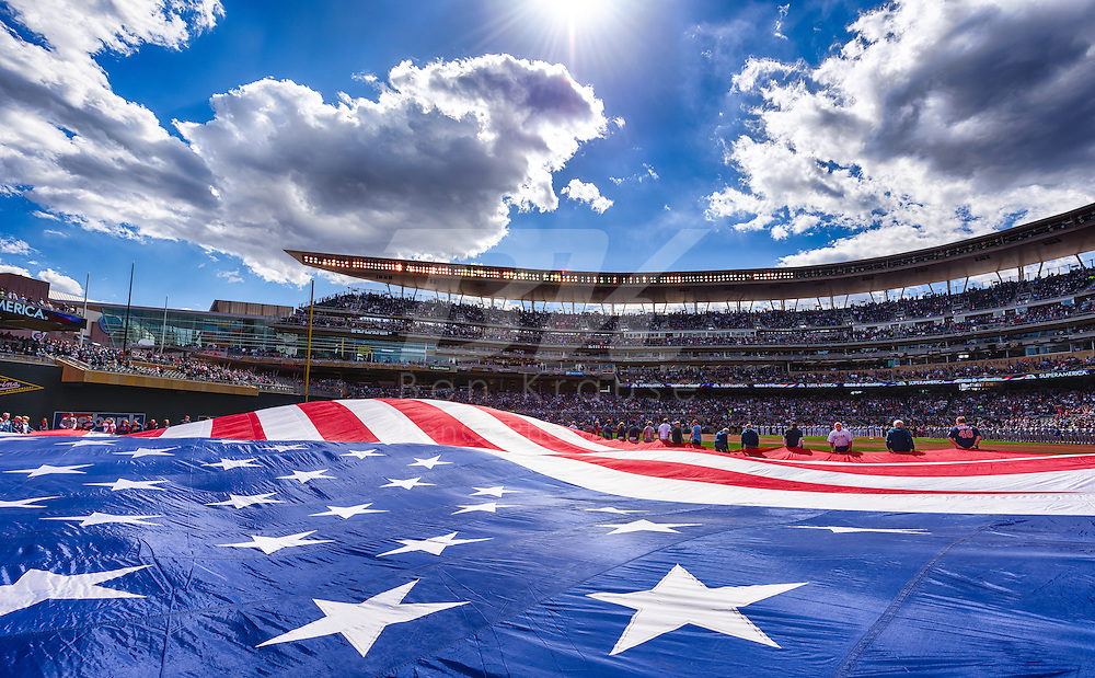 2015 Home Opener Minnesota Twins vs. Kansas City Royals on April 13, 2015 at Target Field in Minneapolis, Minnesota.  The Royals defeated the Twins 12 to 3.  Photo by Ben Krause