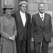 An Tanaiste Called To The Bar.  (P2)..1981..16.11.1981..11.16.1981..16th November 1981..An Tanaiste, Mr Michael O'Leary TD was called to the Bar at The Supreme Court in Dublin today.. .Picture shows An Tanaiste, Mr Michael O'Leary posing for pictures with his sister, Mrs John Long, and his father Mr John O'Leary