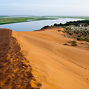 The Dune of Koima ( Dune Rose ) by Niger river, Gao region. Mali .West Africa.