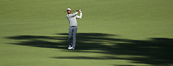 April 6, 2018 - Augusta, GA, USA - Haotong Li hits his fairway shot on hole two during the second round of the Masters Tournament at Augusta National Golf Club on Friday, April 6, 2018, in Augusta, Ga. (Credit Image: © Jason Getz/TNS via ZUMA Wire)