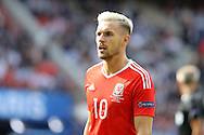 Aaron Ramsey of Wales looks on.UEFA Euro 2016, last 16 , Wales v Northern Ireland at the Parc des Princes in Paris, France on Saturday 25th June 2016, pic by  Andrew Orchard, Andrew Orchard sports photography.