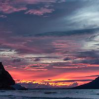 Sunset at Bako National Park.