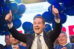 11.10.2015, FPÖ Festzelt, Wien, AUT, Wien-Wahl 2015, im Bild FPÖ Spitzenkandidat Heinz-Christian Strache // during elcetion to the vienna city council at FPOe tent in Vienna, Austria on 2015/10/11, EXPA Pictures © 2015, PhotoCredit: EXPA/ Michael Gruber