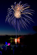 Middletown, New York - People watch the fireworks display at Fancher-Davidge Park that was part of the celebration of the 125th anniversary of the founding of the City of Middletown on June 29, 2013.