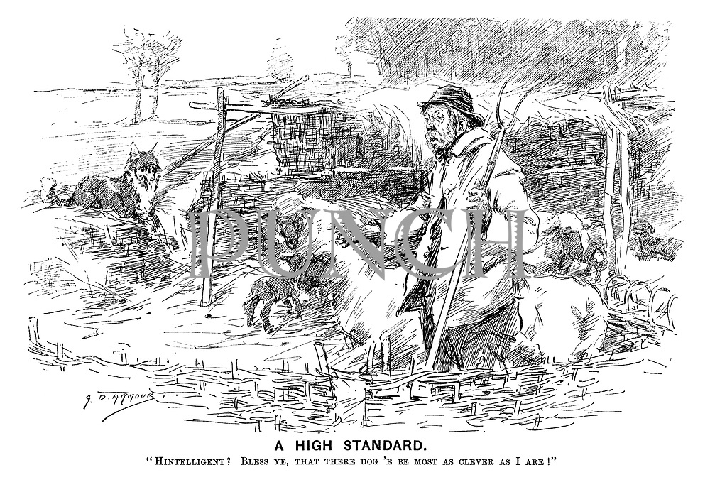 """A High Standard. """"Hintelligent? Bless ye, that there dog 'e be most as clever as I are!"""""""