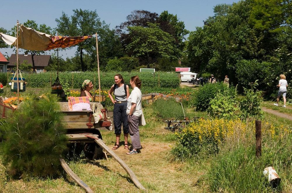 Nederland, Utrecht, 17 juni  2006.Open dag biologische bedrijven..fietstocht langs biologische landbouwbedrijven die een open dag hebben, georganiseerd door Milieudefensie..groenekan...Foto (c) Michiel Wijnbergh