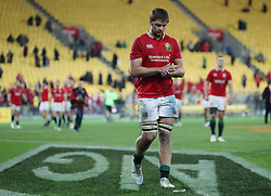 British and Irish Lions' Iain Henderson leaves the field after the tour match at the Westpac Stadium, Wellington. PRESS ASSOCIATION Photo. Picture date: Tuesday June 27, 2017. See PA story RUGBYU Lions. Photo credit should read: David Davies/PA Wire. RESTRICTIONS: Editorial use only. No commercial use or obscuring of sponsor logos.