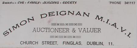 Simon Deignan,MIAVI, auctioneer & valuer,