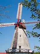Elkhorn, Iowa's historic, rebuilt Danish windmill.