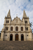 Santa Cruz Cathedral Basilica in Fort Kochi is considered one of the heritage buildings of Kerala. The basilica is of the Diocese of Cochin, one of the oldest Diocese of India. It was originally built  by the Portuguese  & designated  to Cathedral by Pope Paul IV in 1558, . The British demolished the structure and Bishop Gomes Ferreira rebuilt it in  1887.  Santa Cruz was proclaimed a Basilica by Pope John Paul II in 1984