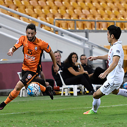 BRISBANE, AUSTRALIA - FEBRUARY 21: Arana of the Roar in action during the Asian Champions League Group Stage match between the Brisbane Roar and Muangthong United FC at Suncorp Stadium on February 21, 2017 in Brisbane, Australia. (Photo by Patrick Kearney/Brisbane Roar)